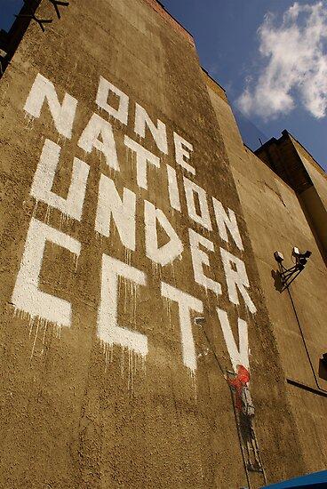Banksy - One Nation Under CCTV by Kiwikiwi