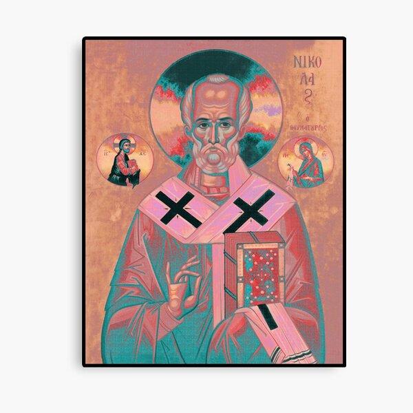 Saint Nicholas Icon Canvas Print