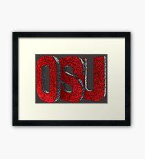 3D OSU Framed Print
