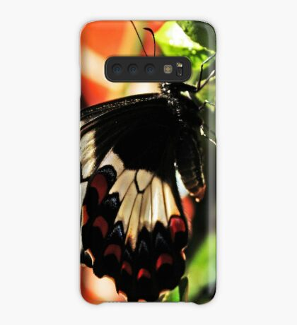 Ein Schmetterling in meinem Garten Hülle & Klebefolie für Samsung Galaxy