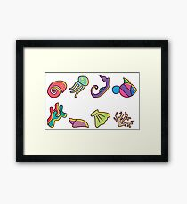 Coral Reef Icons 3 Framed Print