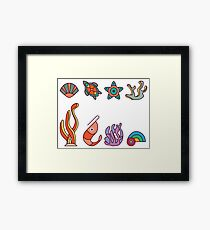 Coral Reef Icons 1 Framed Print