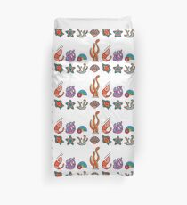 Coral Reef Icons 1 Duvet Cover