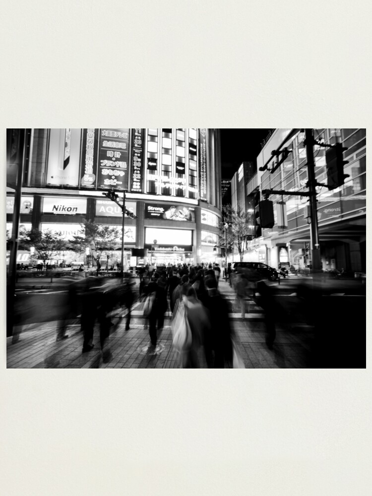 Alternate view of Keeping pace with Tokyo Japan Photographic Print