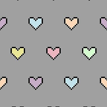 Pixel Pastel Hearts by Fried-Knight