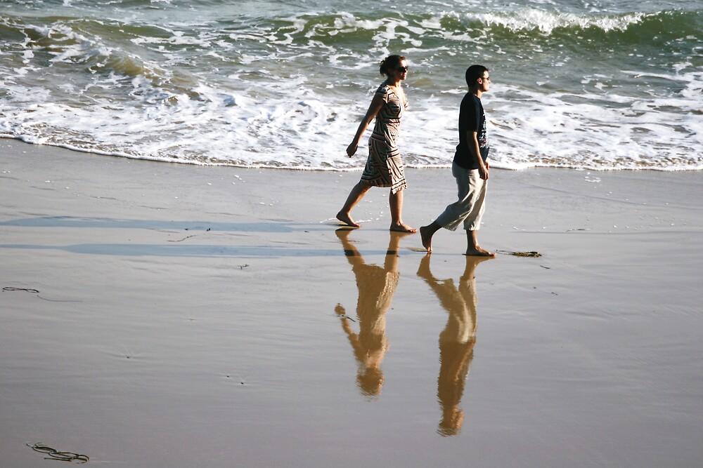 A walk along the beach by Jeff  Wilson