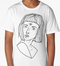 The girl with 3 eyes. Long T-Shirt