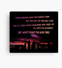 Good Times Skyline Canvas Print
