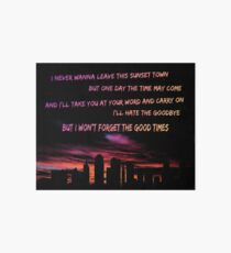 Good Times Skyline Art Board