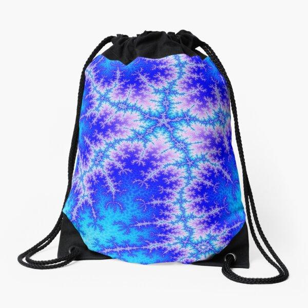 Electric Starfish Fractal Drawstring Bag