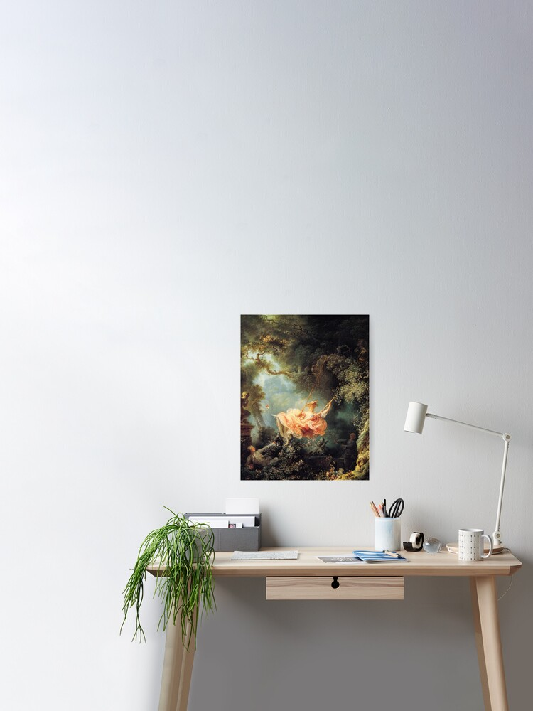 Fragonard art mural Poster métal Les Hasards heureux de l/'escarpolette
