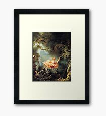 The Swing by Jean-Honoré Fragonard Framed Print