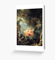 The Swing by Jean-Honoré Fragonard Greeting Card