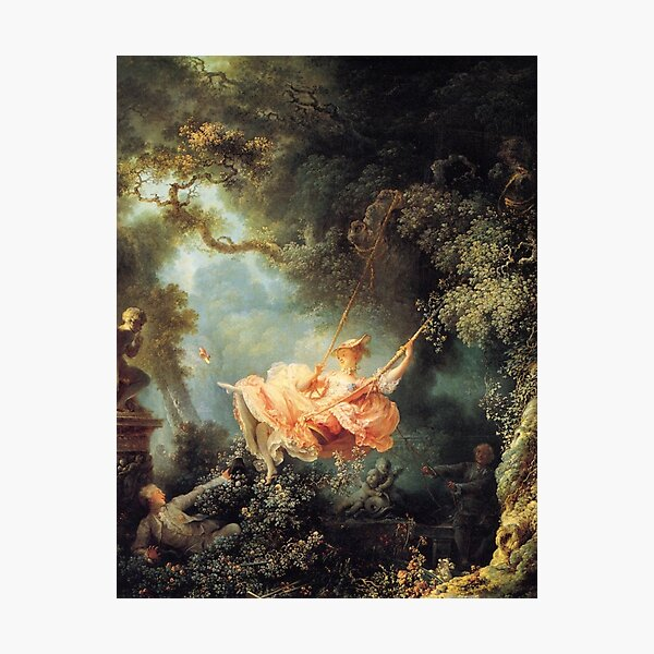 The Swing by Jean-Honoré Fragonard Photographic Print