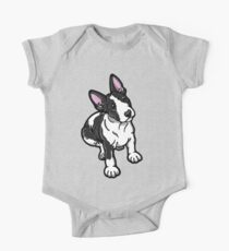Black And White Bull Terrier Kids Clothes