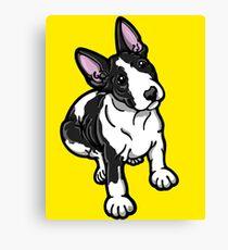 Black And White Bull Terrier Canvas Print