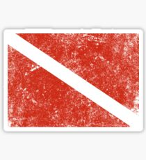 Vintage Distressed Scuba Diving Flag Sticker