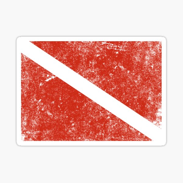 Vintage Distressed Scuba Diving Flag Sticker