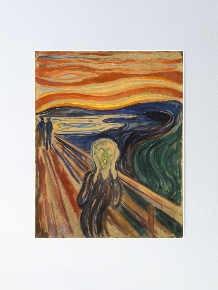 The Scream Edvard Munch 1893 Poster Canvas Fine Art Print 1