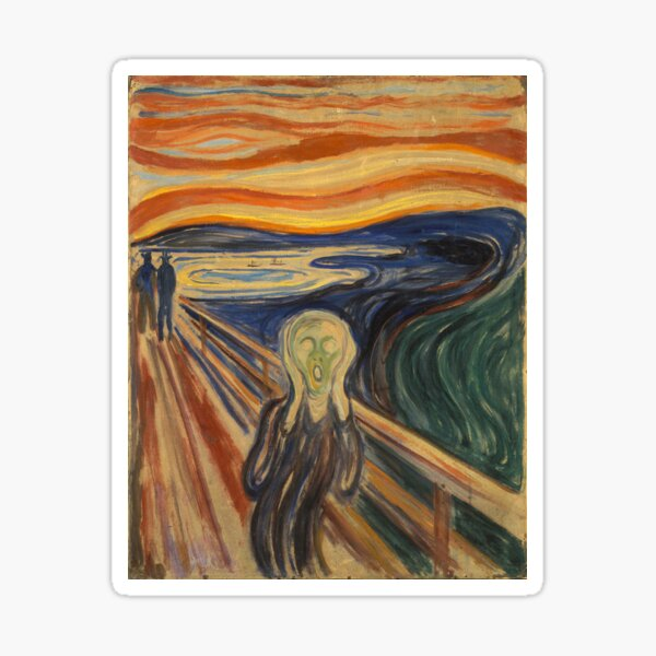 Painting The Scream by Edvard Munch Sticker