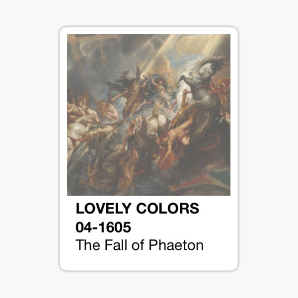 Color Swatch - The Fall of Phaeton Sticker