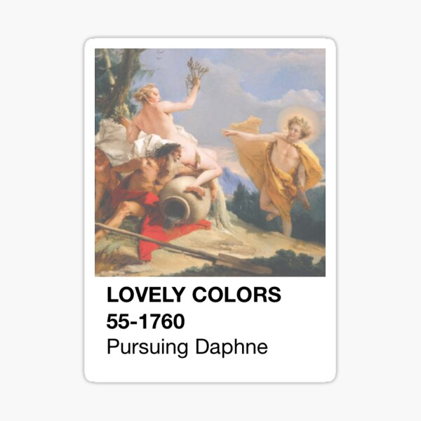 Color Swatch - Apollo Pursuing Daphne Sticker