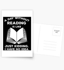 A Day Without Reading Shirt Postcards