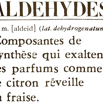 Aldehydes French Words by alexklp