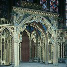 Apse of Upper Chapel St Chapelle Built by St Louis 1243-8 Paris 19840818 0024  by Fred Mitchell