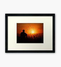 A Thoughtful Man Framed Print