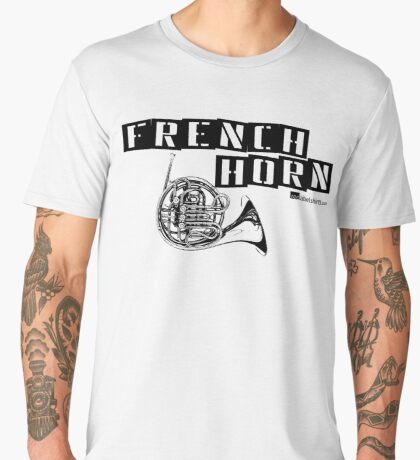 Label Me A French Horn (Black Lettering) Men's Premium T-Shirt
