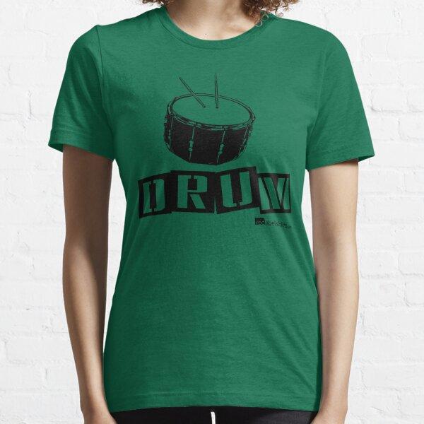 Label Me A Snare Drum (Black Lettering) Essential T-Shirt