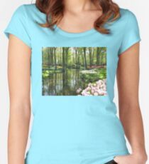 The Lake - Keukenhof Gardens, Holland Women's Fitted Scoop T-Shirt