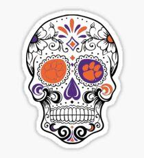 Clemson Skull Sticker