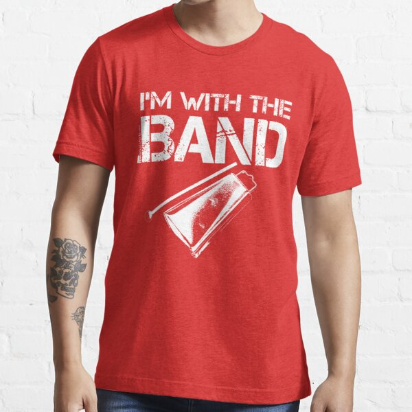I'm With The Band - Cowbell (White Lettering) Essential T-Shirt
