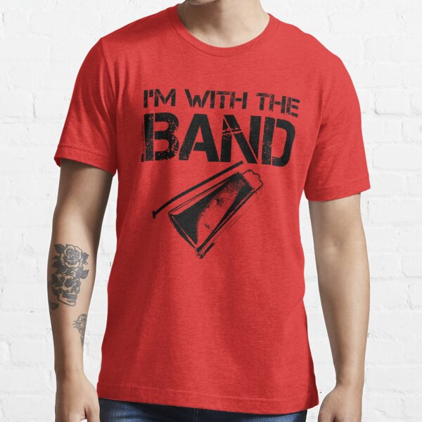 I'm With The Band - Cowbell (Black Lettering) Essential T-Shirt