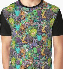 Cthulhu Mythos chiibi kawaii bestiary - crowded ver. Graphic T-Shirt