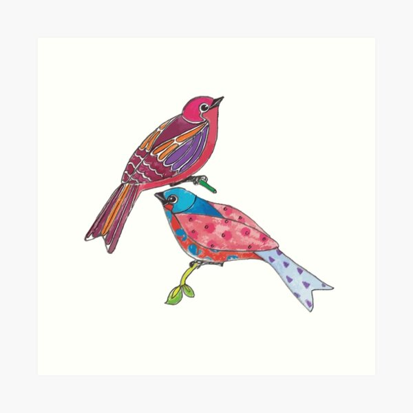 Birds of a Colour Art Print