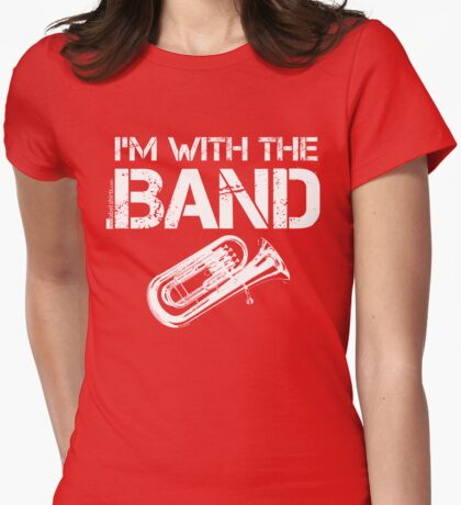I'm With The Band - Tuba (White Lettering) T-Shirt