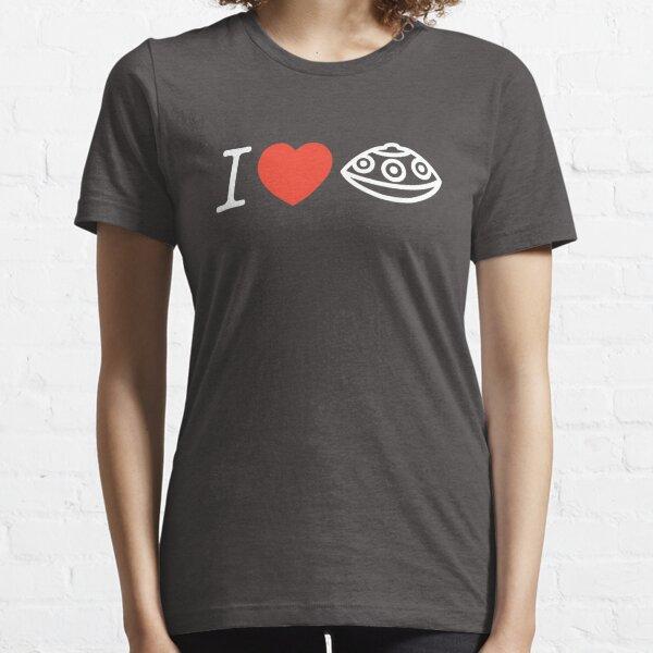 I LOVE PANTAM I LOVE HANDPAN T-SHIRT - WHITE on Black Essential T-Shirt
