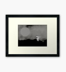 Moonlit migrant Framed Print