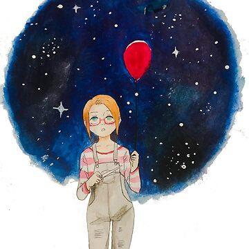 Galaxy Balloon by AmeAki