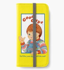 Kinderspiel - gute Kerle - Chucky iPhone Flip-Case/Hülle/Klebefolie