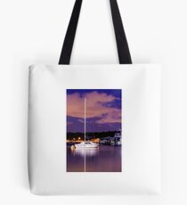 Lonely night on the water Tote Bag