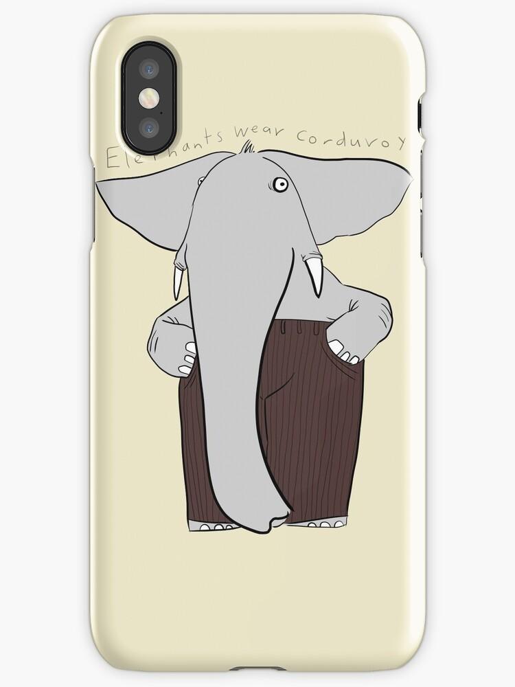 elephants wear corduroy by Paul McClintock
