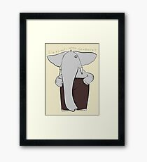 elephants wear corduroy Framed Print