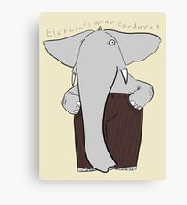 elephants wear corduroy Canvas Print