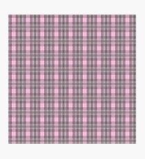 Pink Plaid Photographic Print