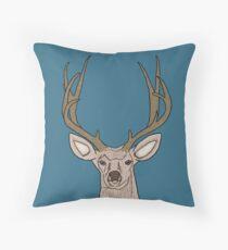 Deer One Throw Pillow