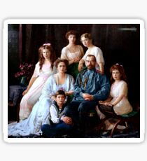 Colorized Romanoff Family Portrait 1913-14 Sticker